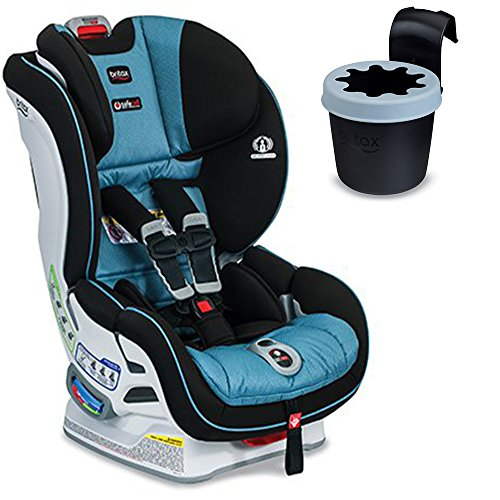 Britax Boulevard ClickTight Convertible Car Seat with Black Cup Holder, Poole