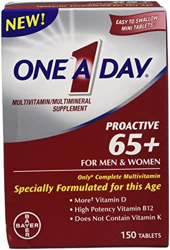 One-A-Day Proactive 65 Plus Multivitamins for Men and Women, 2 Count