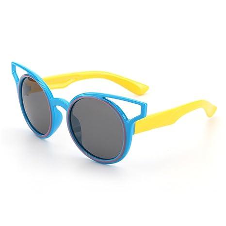 Lentes de seguridad Personalidad niños gafas de sol polarizadas suave y cómodo Protección UV400 lentes reflectantes