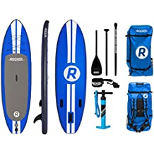 """iRocker Inflatable ALL-AROUND Stand Up Paddle Board 10' Long 32"""" Wide 6"""" Thick SUP Package"""