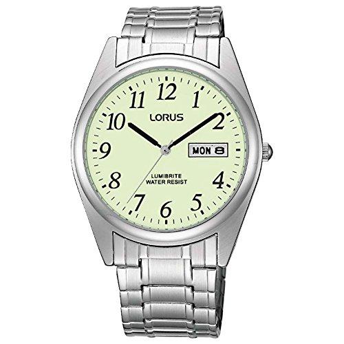 Gents Lumibrite Expanding Bracelet Watch - Lorus RXN29BX9