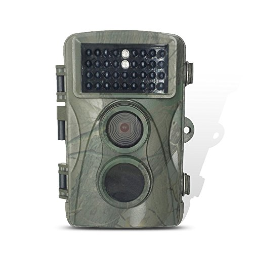 Trail Game Hunting Cemera H.View 720P 5MP HD Wide Angle IP66 Waterproof Outdoor Detection Range 80ft Enhance Infrared Night Vision for Game and Trail Scouting