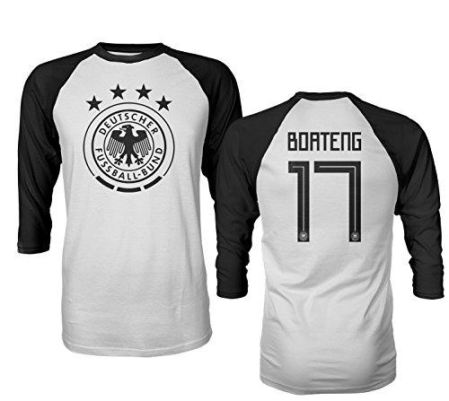 1239f5695258 Tcamp Germany 2018 National Soccer #17 Jerome BOATENG World Championship  Men's Quarter Sleeve Raglan T