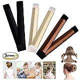 Beauty Donut Hair Bun Maker Magic Bun French Twist Doughnuts Hair Band Accessories For Women Girls (3pcs)