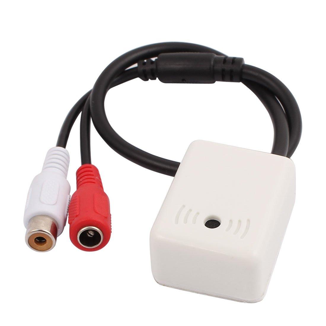 uxcell 1Pcs DC12V NVL-502C Microphone Audio Recording Security Sound Pick Up