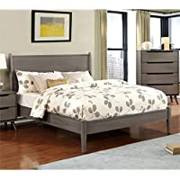 Furniture of America Farrah King Bed in Gray