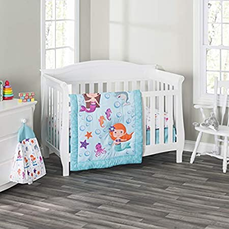 51C71CaoioL._SS450_ Mermaid Crib Bedding and Mermaid Nursery Bedding Sets