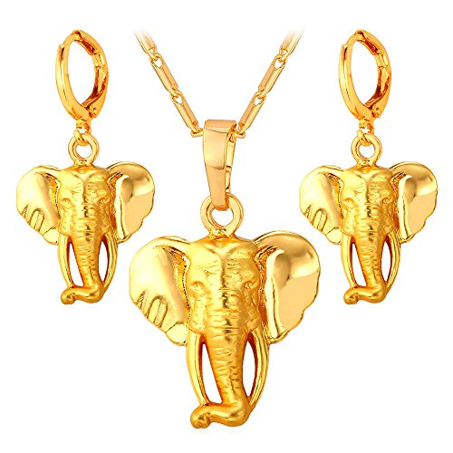 Elephant Pendant Necklace Earrings African product image