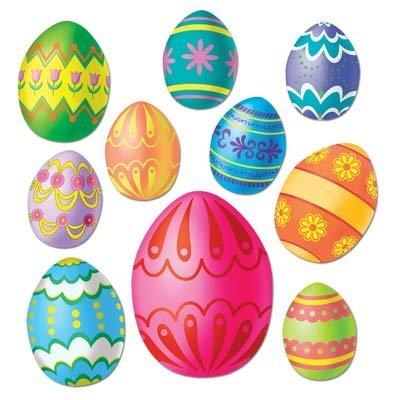 Easter Egg Cutouts   (10/Pkg) ()