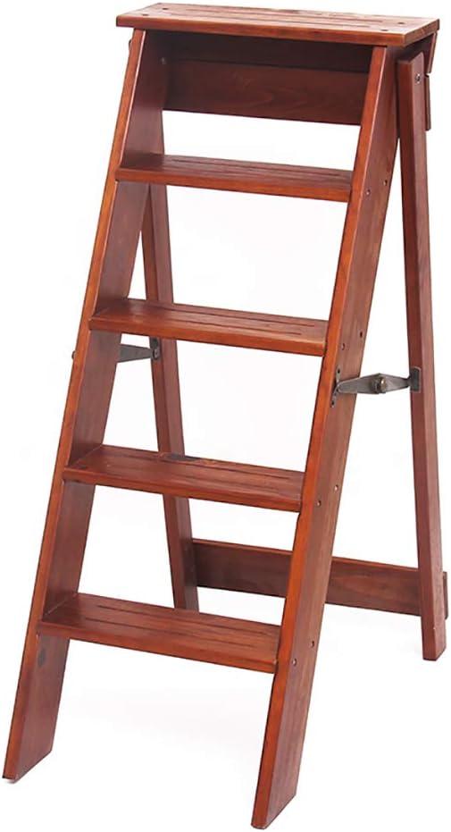 Escalera de Tijera Taburete Plegable de Madera del hogar Escalera pequeña de Cinco Pasos del hogar Escalera Gradual Simple de la Escalera de Caracol Multifuncional de la Espina de Pescado: Amazon.es: Electrónica