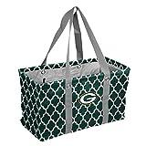 Logo Brands NFL Green Bay Packers Quatrefoil Picnic Caddy quatrefoil Picnic Caddy, Hunter, One Size