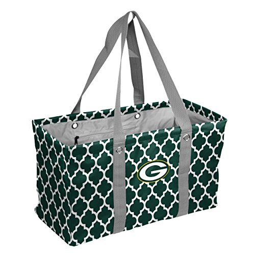 Logo Brands NFL Green Bay Packers Quatrefoil Picnic Caddy quatrefoil Picnic Caddy, Hunter, One Size by Logo Brands