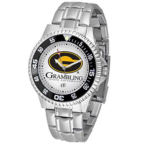Grambling State Tigers Competitor Men's Watch with Steel Band (Competitor Watch Tigers Steel)