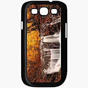 Unique Design Fashion Protective Back Cover For Samsung Galaxy S3 Case Autumn Waterfall Nature Black