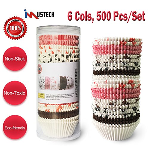 red and pink cupcake liners - 6