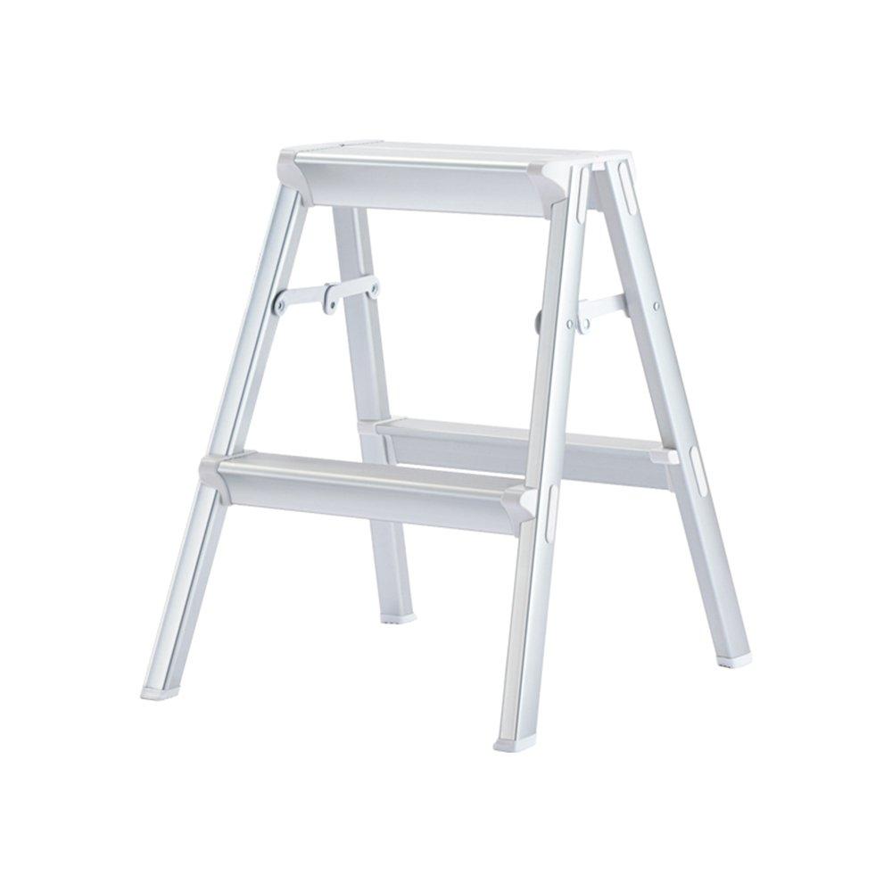 grandes ahorros La plata DQMSB DQMSB DQMSB Escalera Taburete Escalera de Aluminio Grueso Escalera Plegable portátil Escalera Antideslizante portátil Taburete (Color   La plata, Tamaño   42  53  56CM) 425356CM  para barato