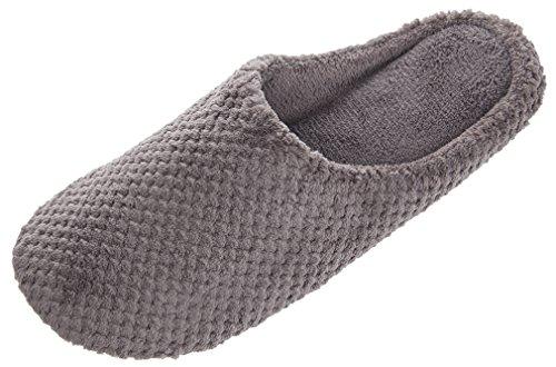 MIXIN Womens Casual Indoor Pineapple Velveteen Slippers Dark Grey J9ull79VL