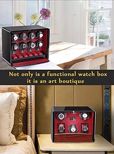 LKB-KB 4つの時計の自動ウォッチワインダー、クリスタルボタン電源4タイマプログラムの3種類 - 42×17×25センチメートル