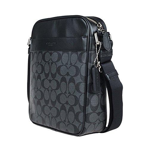 Amazon.com  Coach Mens Flight Bag in Signature PVC 54788 in Charcoal Black   Shoes a91dcbde281d9