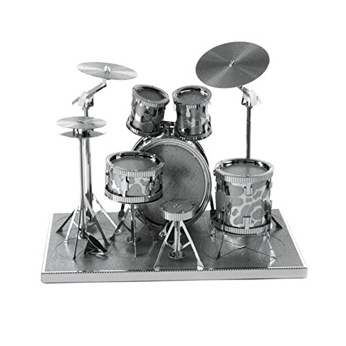 Fascinations Metal Earth Drum Set 3D Metal Model Kit ()