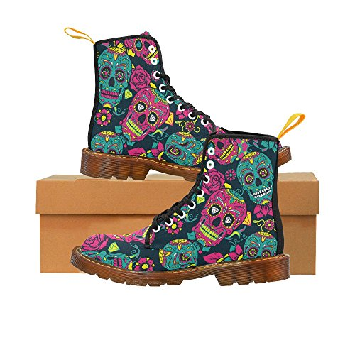 InterestPrint Lace Boots the Women Sugar Colorful For Skull floral mandala Print Dead Up and of Day TwnIpTxPrq