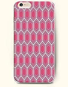 Case For Samsung Galaxy S5 Cover with Design of Medium Violent Red And White Hexagon PatteHoneycomb Pattern -OOFIT Authentic