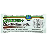 green bars - Greens Plus +Plusbar Energy Chocolate | Non-GMO & Gluten free | Made with Organic Dates, Dark Chocolate, Almond Butter & Greens+ Superfoods - 12 Nutrition Bars / 59 gram per Bar