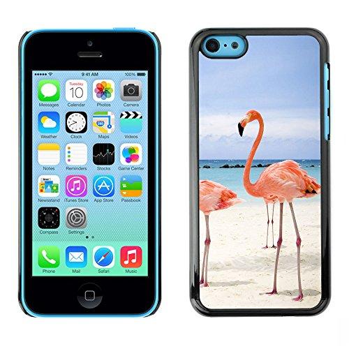 Omega Case PC Polycarbonate Cas Coque Drapeau - Apple iPhone 5C ( Pink Beach Flamingo )