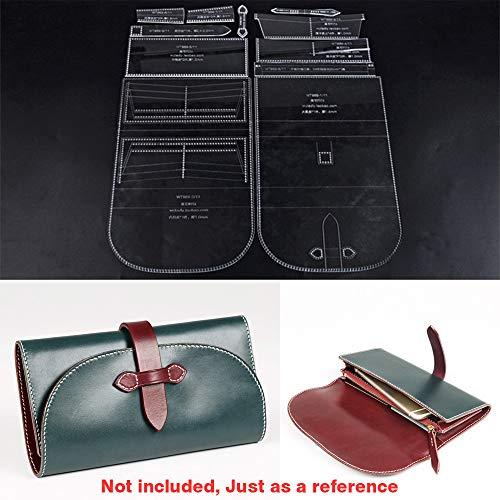 WUTA Original Design DIY Leather Craft Long Wallet Template Clear Acrylic Pattern Cutting Model Handmade Clutch Long Purses -