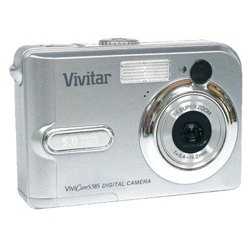 Vivitar 5385 silver 5 mp 3x optical zoom vivicam digital camera.