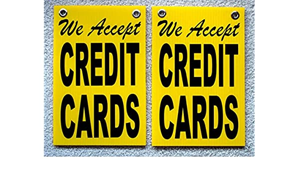 photo about Free Printable Credit Card Signs identified as 2) WE Take Credit history Playing cards Coroplast Symptoms with Grommets 8