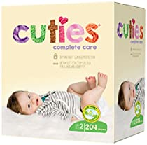 Cuties Complete Care Baby Diapers, Size 2, 204 Count