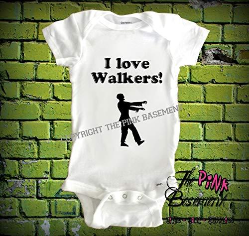 HANDMADE Baby Walkers Zombies Halloween Dead fan kids funny Unisex Girls Boys Newborn Infant Shower Gift Clothing Gifts Present Personalized Jumper Jumpsuit Bodysuit One piece -