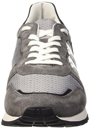 Bikkembergs Mant 650 L.Shoe M Nylon/Suede, Sandalias con Plataforma para Hombre Multicolor (Dk.Grey/Grey/Black)