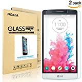 [2 PACK] LG G3 Screen Protector, NOKEA [9H Hardness] [Crystal Clear] [Easy Bubble-Free Installation] [Scratch Resist] LG G3 Tempered Glass Screen Protector (For LG G3)