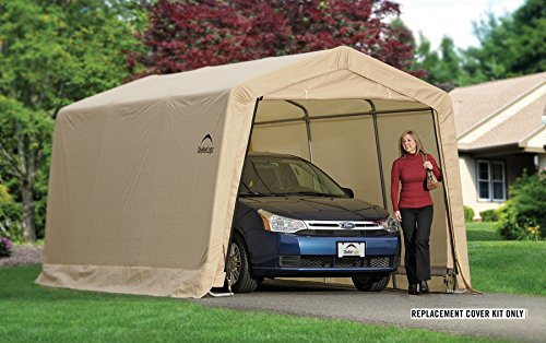 ShelterLogic Replacement Cover Kit 10x15x8 Peak Tan 90526 (5.5oz Tan) - Shelterlogic Cover
