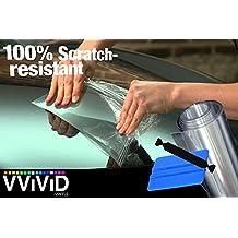 "VViViD Clear Bra Paint Protection Bulk Vinyl Wrap Film Including 3M Squeegee and Black Felt Applicator (8"" x 300"")"
