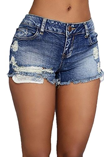Elegante Di Blue Magre Molto Donne Le Shorts Hot Jeans n0FxznwZq