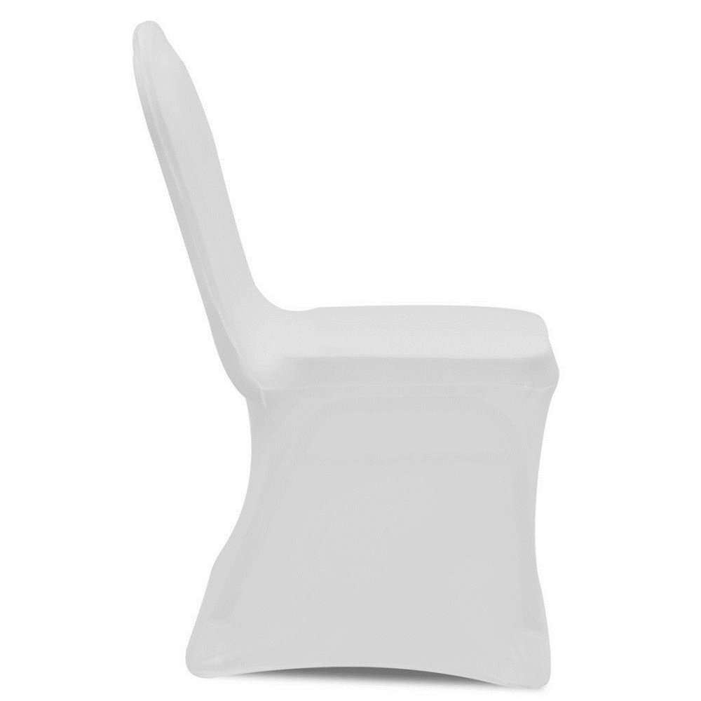 mariages et plus encore Wei/ß 100 St/ück HENGMEI Housses extensibles pour chaises pour la d/écoration les f/êtes