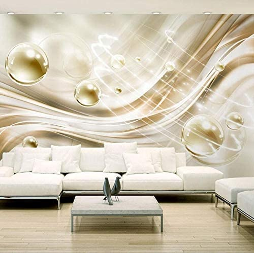 Amazon Com Lifme Custom Mural Wallpaper 3d Stereo Golden Silk Flash Crystal Ball Fresco Living Room Tv Sofa Background Wall Papers 3 D Home Decor 280x200cm Home Kitchen