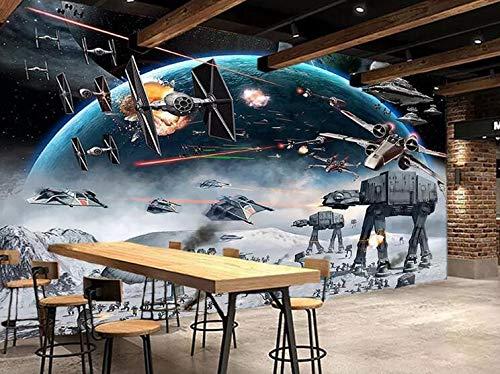 Papel tapiz de pared grande sin costuras en 3D impactante Star ...