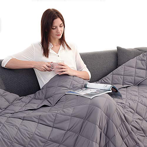 Cheap Esinfy Weighted Blanket Sofa Blanket Breathable Fabric | Improve Sleep Quality | 100% Cotton (Grey 48