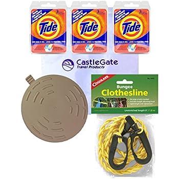 Amazon Com Premium Travel Laundry Kit Tide Liquid Sink