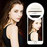 Rechargeable Portable Selfie LED Ring Light for iPhone Android Phone Camera (USB Charging)