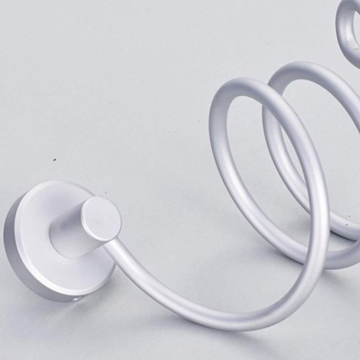 Argento Funnyrunstore Portatile Asciugacapelli Cremagliera in Alluminio da Bagno Appendiabiti a Parete