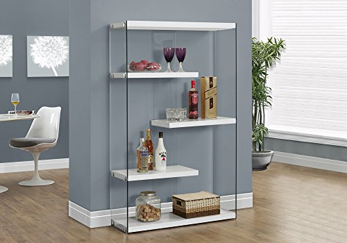 (Monarch Specialties I I 3290 Tempered Glass Bookcase, 60