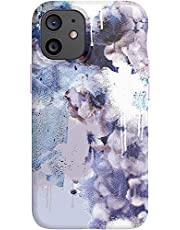 tech21 EcoArt Collage White and Blue for Apple iPhone 12 Mini 5G - Fully Biodegradable Phone Case with 10 ft. Drop Protection, Collage 2 White/Blue (T21-8558)