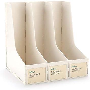 Separadores de Libros Barra de Archivos Titular de Archivos Caja de Archivos Titular de Datos Soporte de Libros Estante de Almacenamiento de Documentos de Escritorio Suministros de Oficina, Azul: Amazon.es: Electrónica