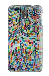 Jasenka Selimovich Perfect Tpu Case For Galaxy Note 3/ Anti-scratch Protector Case (african Art )