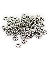 200 pcs Tibetan Silver Daisy Spacer Metal Beads 4mm